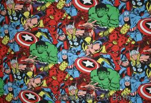 Super Hero Squad Hulk Spiderman Thor Captain America Handmade Curtain Valance