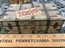 Vintage Trunk LOTTO GAME , Wood Pieces