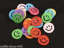 25 Smiley Filz Streudeko Tischdeko Streuelemente  Basteln Kartengestaltung