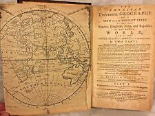 Ant Book The American Universal Geography Book w/ Maps 1793 by Jedidiah Morse