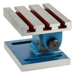 "5 X 6"" SWIVEL ANGLE PLATE Adjustable range IS 0-90° Drilling o Milling Machine"