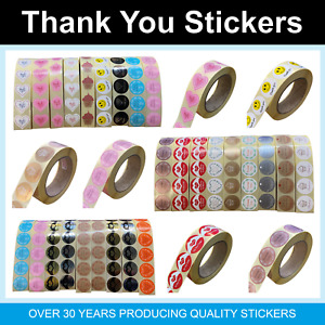35mm Thank You For Your Order Stickers / Labels