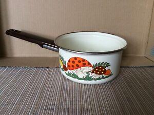 Sears Vintage Merry Mushroom Enamelware Cooking pot
