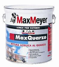 MAX MEYER MAX QUARZO Pittura murale farina quarzo acrilica bianco 4 lt