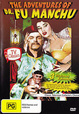 THE ADVENTURES OF DR. FU MANCHU 3 Episodes DVD - All Zone - New - PAL