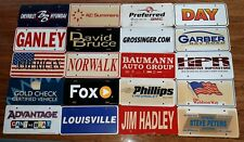 Dealer License Plate Lot of 20 promo Pennsylvania/Ohio CHEVY CHEVROLET vintage