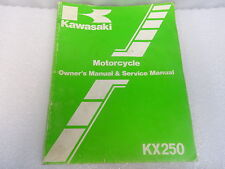 Kawasaki  99920-1366-01 Motorcycle Owner's & Service Manual KX KX250-E1