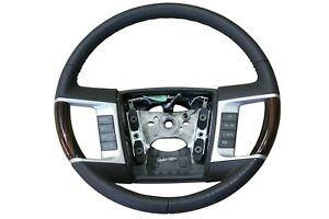 OEM 2008-2010 Lincoln MKX Black Leather w/SYNC Steering Wheel Wood 9A1Z3600HA