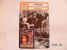 CARTE FICHE CINEMA 1946 HUMORESQUE Joan Crawford John Garfield Oscar Levant
