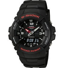 Casio G100-1BV, G-Shock Analog/Digital Watch, Black Resin Band, Alarm,