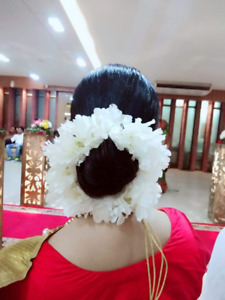 Indian Woman Bridal Artificial Hair Accessories Strand Gajra For Flower Diwali