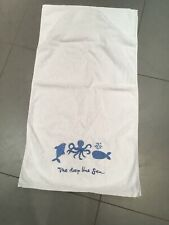 White And Blue Sea Creatures Towel