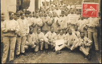 WW1 FRENCH PLATOONS SOLDIERS MILITARY ANTIQUE WAR RPPC PHOTO POSTCARD