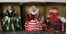 Lot of Winter Princess Barbie Dolls  Peppermint Evergreen Jewel  NRFB