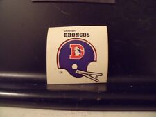 1977 NFL Football Helmet Sticker Decal Denver Broncos Sunbeam Bread