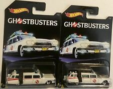 2016 Ghostbusters ECTO-1 Walmart Exclusive 2 LOT Cadillac Ambulance Hot Wheels