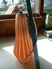 Vintage 70's Orange Opaque Glass Lamp Shade / Pendant  Mid-Century Modern