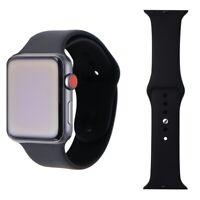 Renewed Apple Watch Series 3 Space Gray 42mm A1861 (GPS + Cellular) Black Sport