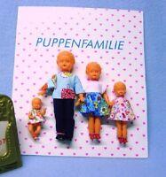 Schwenk Puppenstuben Puppen 4 köpfige Puppen Familie 15410....