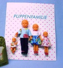 Schwenk Puppenstubenpuppen 4-köpfige Puppenfamilie