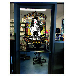 Vaping Shop Window Stickers Decal E Cigarete Wall any Colour Sign Removable