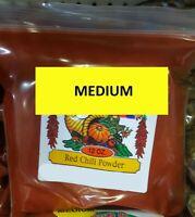 Medium Red Chili Powder 12 oz Authentic New Mexico Hatch Chile Rojo Molido Spice