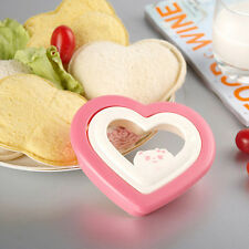 Heart Shape Sandwich Cake Mould Toast Bread Mold Cutter Maker Tool DIY Food US