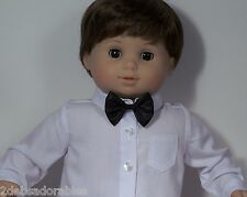 BLACK Dress BOW-TIE ONLY: (NO SHIRT) Doll Clothes For Bitty Baby Boy (Debs)