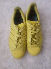 Adidas  Superstar  Pharrell Williams  yellow Trainers Size uk6.5 Eu40 used .