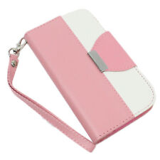 Samsung I9600 Galaxy S5 Case Cover Protective Mix Match Wallet Leather Case PINK