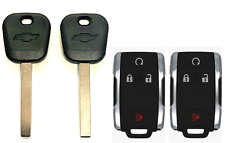 2 Chevtolet 2014-2017 B119 Transponder key + Remote Fob M3N-32337100 USA Seller