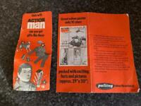 ORIGINAL PALITOY ACTION MAN STARS CARD GOOD CONDITION FOR AGE UNUSED