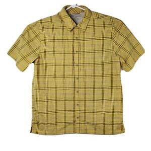 5.11 Tactical Series Mens Size Large Yellow Striped Vented Outdoor Hiking Shirt