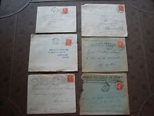 FRANCE - 6 enveloppes (timbre yvert et tellier n° 199) (B16) french