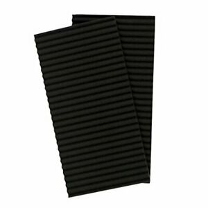 Window Air Conditioner Season Protection-Pack of 2 Foam Insulating 1 Black