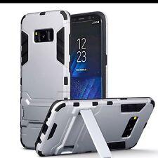 SAMSUNG Galaxy S8 Genuine resistente agli urti Rugged case a più strati Argento Nero