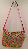 HANNA ANDERSSON NWOT Floral Messenger Bag $40 Green Orange Red Blue School NEW