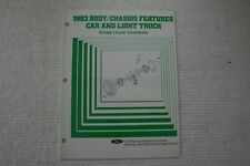 New Listing1982 Body & Chassis Features Car and Light Truck Manual