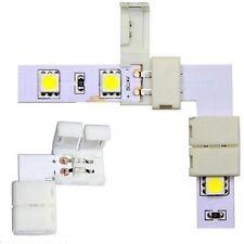 5X connettore a L per strisce LED 8/10mm 3528/5050 senza saldature connettore