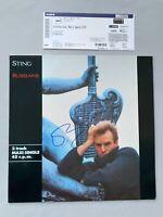 STING 'Police' In-person signed LP-Cover/Vinyl Autogramm + Foto vom Signieren
