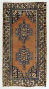 4.6x8.5 Ft Vintage Central Anatolian Village Area Rug with Wool Pile