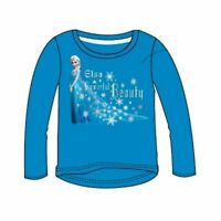 Official Frozen Girls Turquoise Blue Elsa Cotton Top Age 2 4 10 Years BNWT
