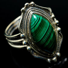 Malachite 925 Sterling Silver Ring Size 8.75 Ana Co Jewelry R22449F