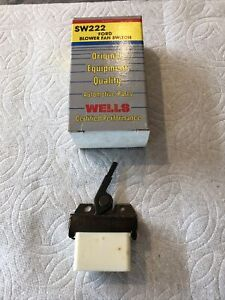 New Wells HVAC Blower Motor Switch 1978-82 Ford Fairmont 1982 EXP