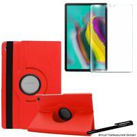 Housse Etui Rouge pour Samsung Galaxy Tab S5e T720 T725 + Vitre de protection