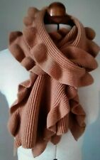 Burberry Stunning camel 100% Wool Scarf In Nude Pink & Suit Bag For Scarfs