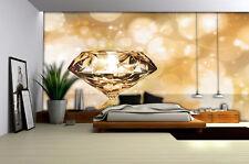VLIES Tapete Fototapete Tapeten Diamant Schmuck Brillant Gold 13N012VEXXXL
