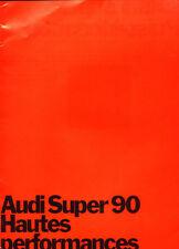 1971 Audi Super 90 24-page Original French Car Sales Brochure Catalog