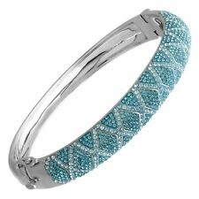 Crystaluxe Harlequin Bangle Bracelet with Swarovski Crystals in Sterling Silver