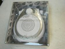 """Brook Stone Shower Tunes Water Resistant Radio """" New """" Am,Fm. Silver, Must See"""